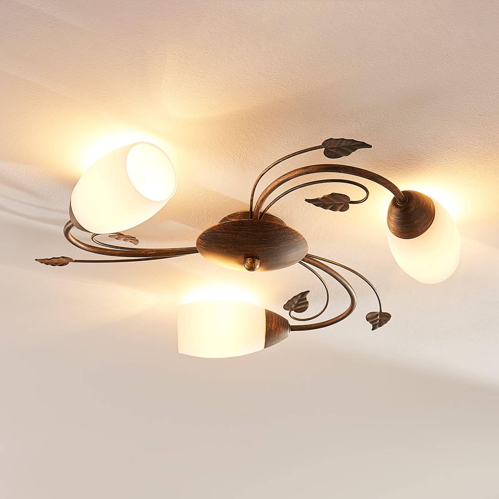3-punktowa lampa sufitowa LED Stefania