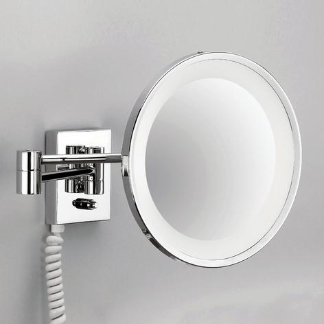 Espejo cosmético de pared POINT con luz, cromo