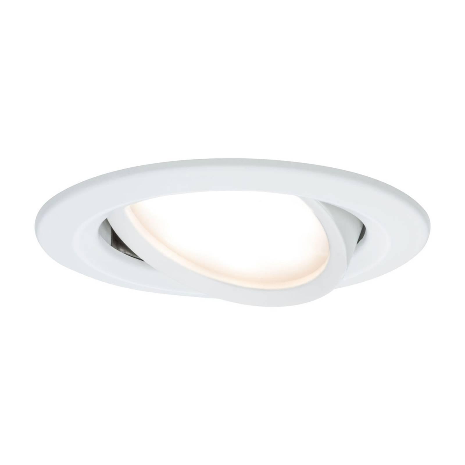 Paulmann Slim Coin set 3 faretti LED, bianchi