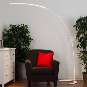 Minimalistisk LED-gulvlampe Danua i hvid