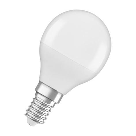OSRAM LED goccia E14 5,5W 840 Star, satinata