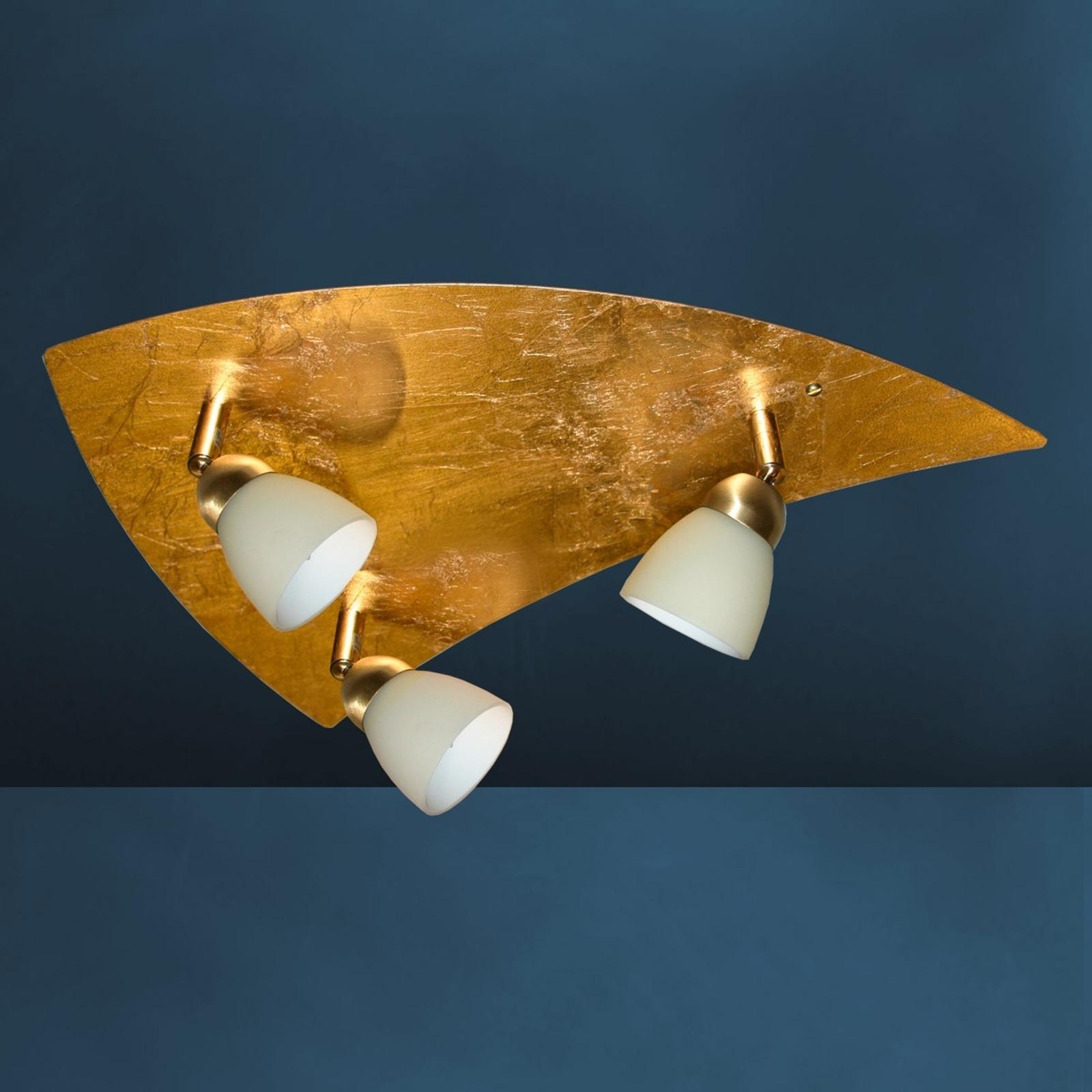 Złota lampa sufitowa ELEGANCE 3-punktowa