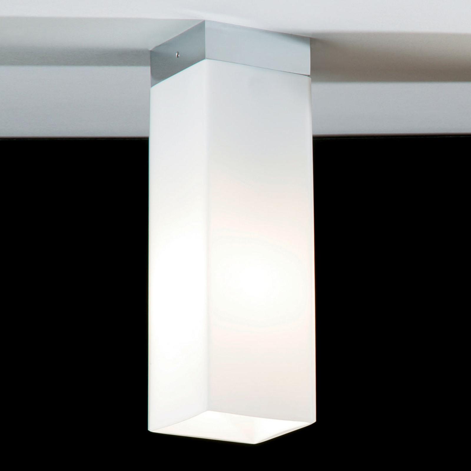 Opalglass taklampe QUADRO BOX nikkel matt