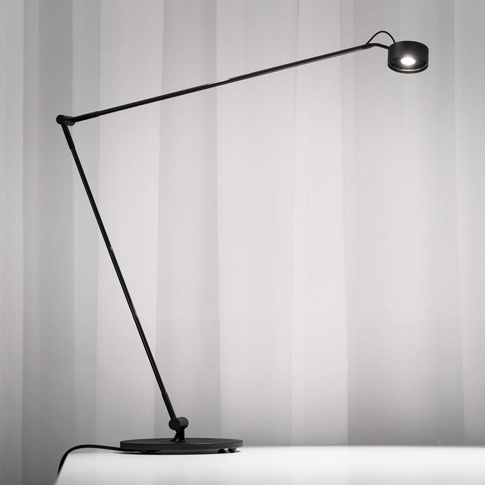 LED tafellamp Basica 930 E met dwarsarm, zwart