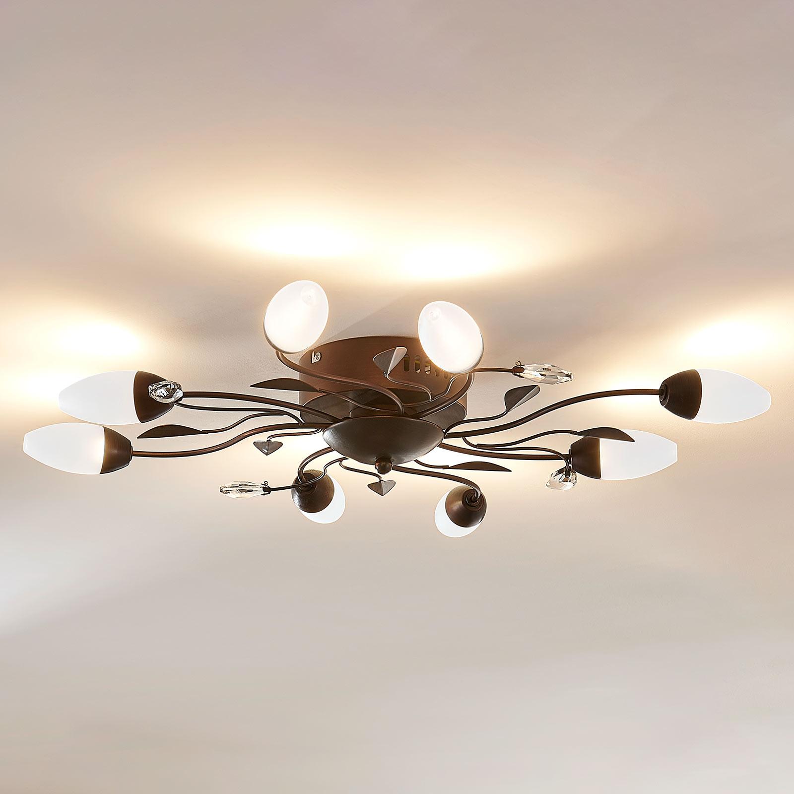 Ściemniana lampa sufitowa LED Renato, 8-punktowa