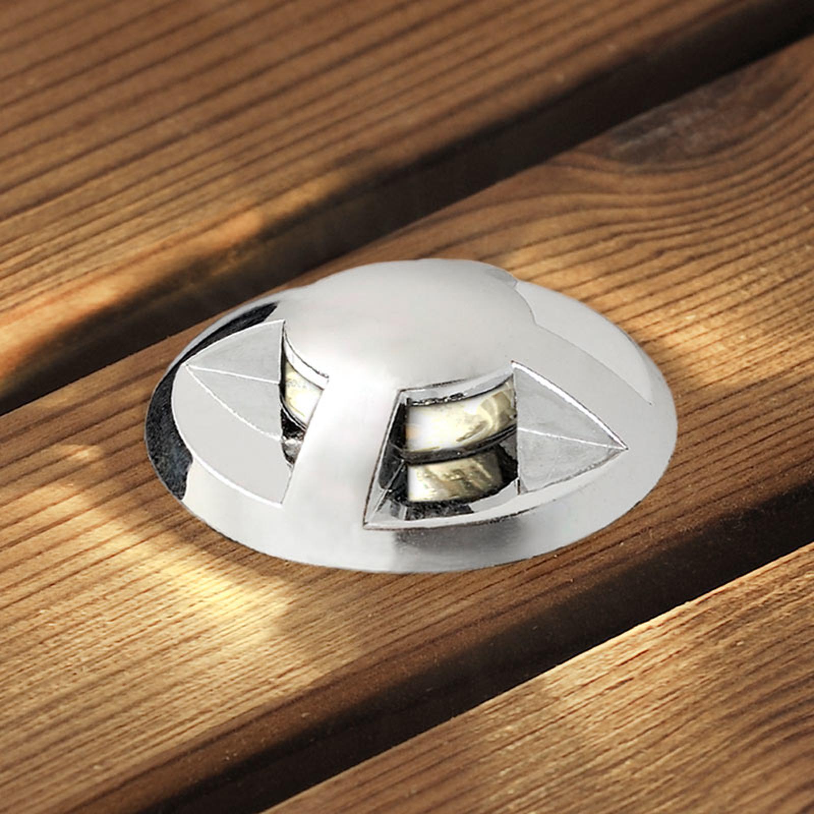 LED-Bodeneinbaustrahler Mini 6er-Set gewölbt