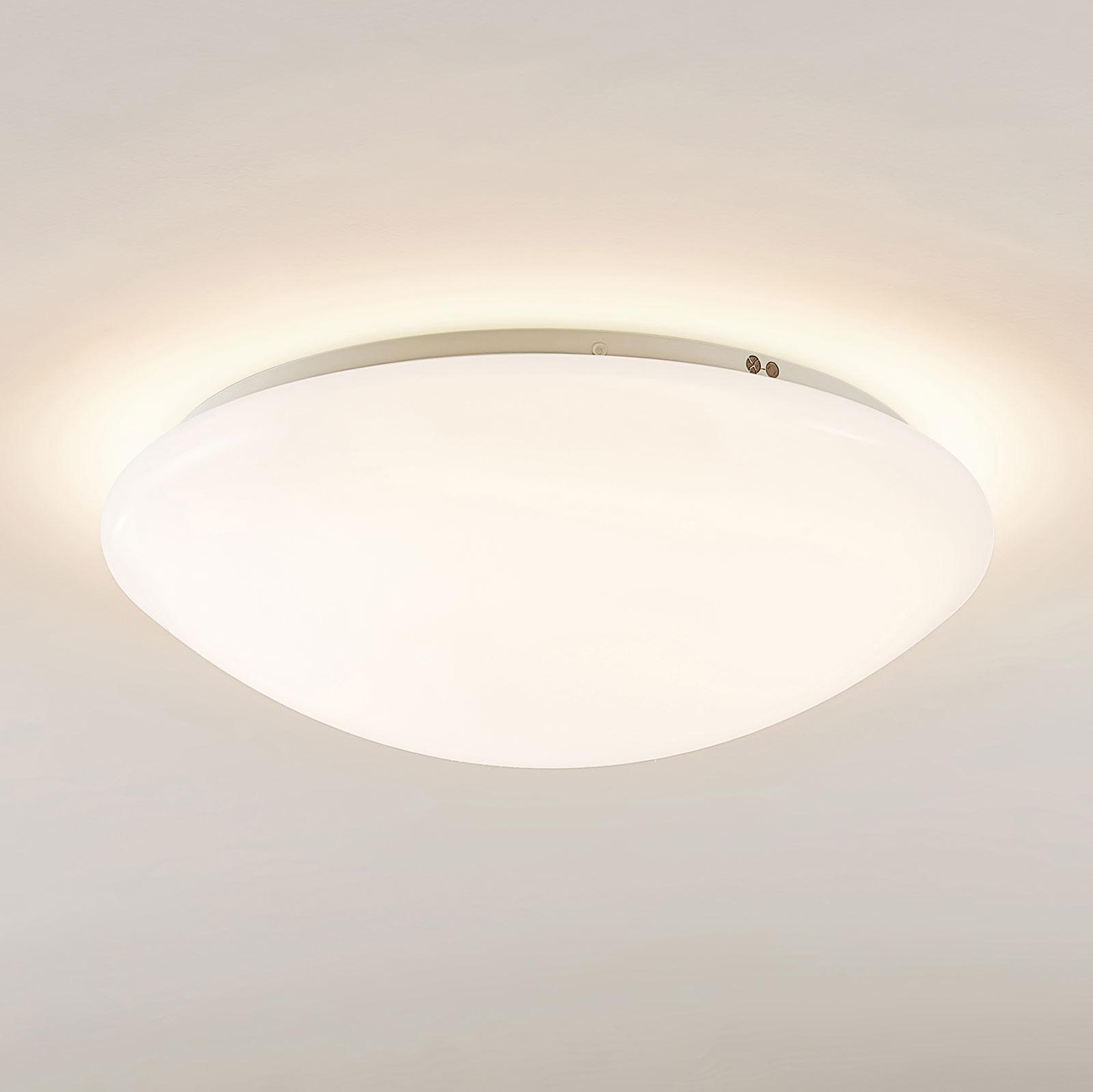 Arcchio Younes LED-taklampe, hvit, rund, 35 cm