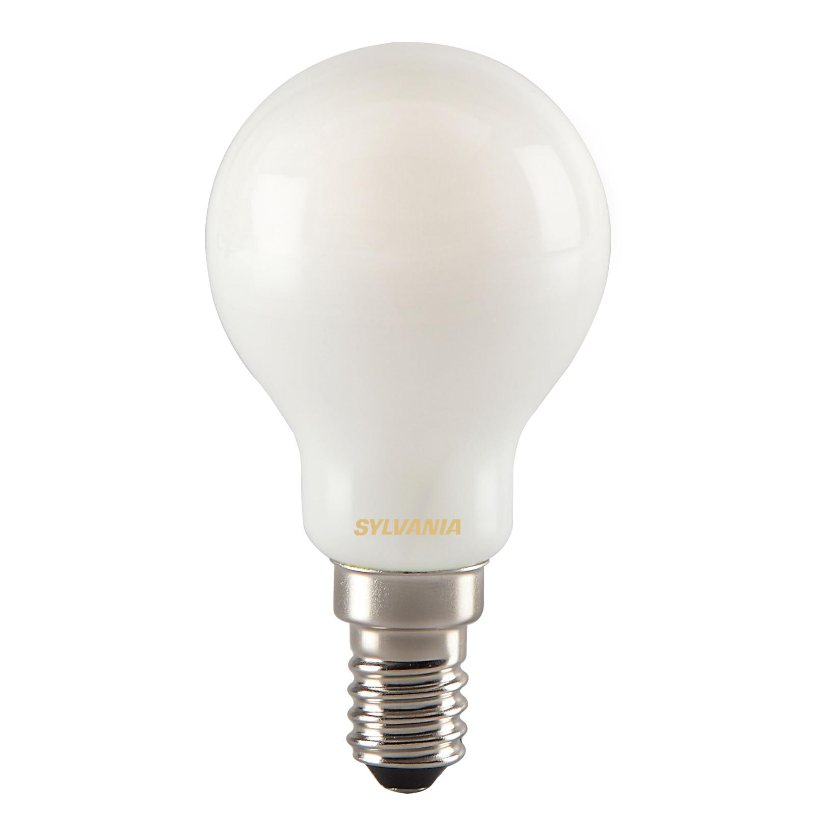 ToLEDo LED-dråbepære E14 RT Ball 4,5W 827, satin