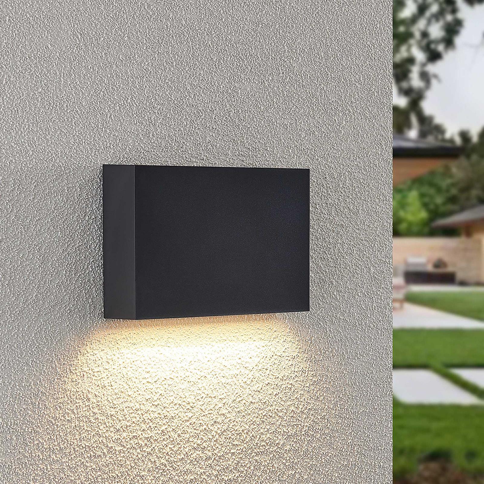 Lindby Jarte LED outdoor wall light, 20 cm down_9949059_1