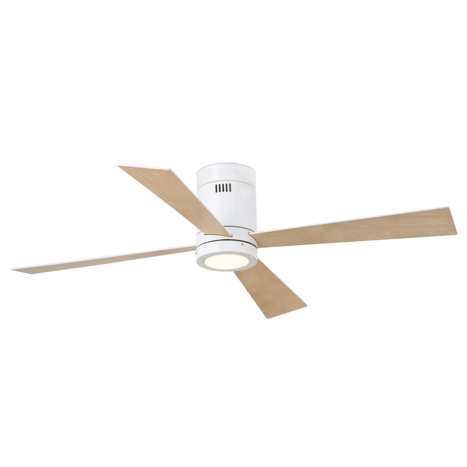 Ventilateur de plafond quatre hélices & LED Timor