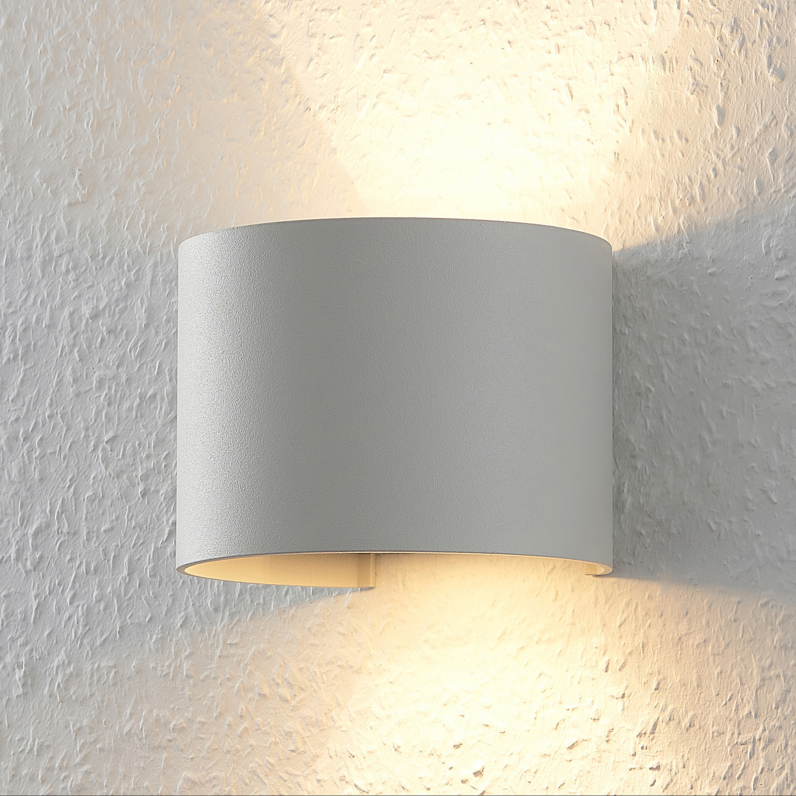 Lámpara de pared LED Zuzana en blanco, circular