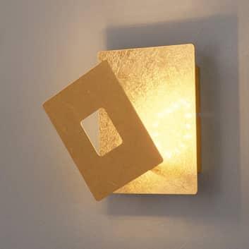 LED-vegglampe Ennis in gullbladstil