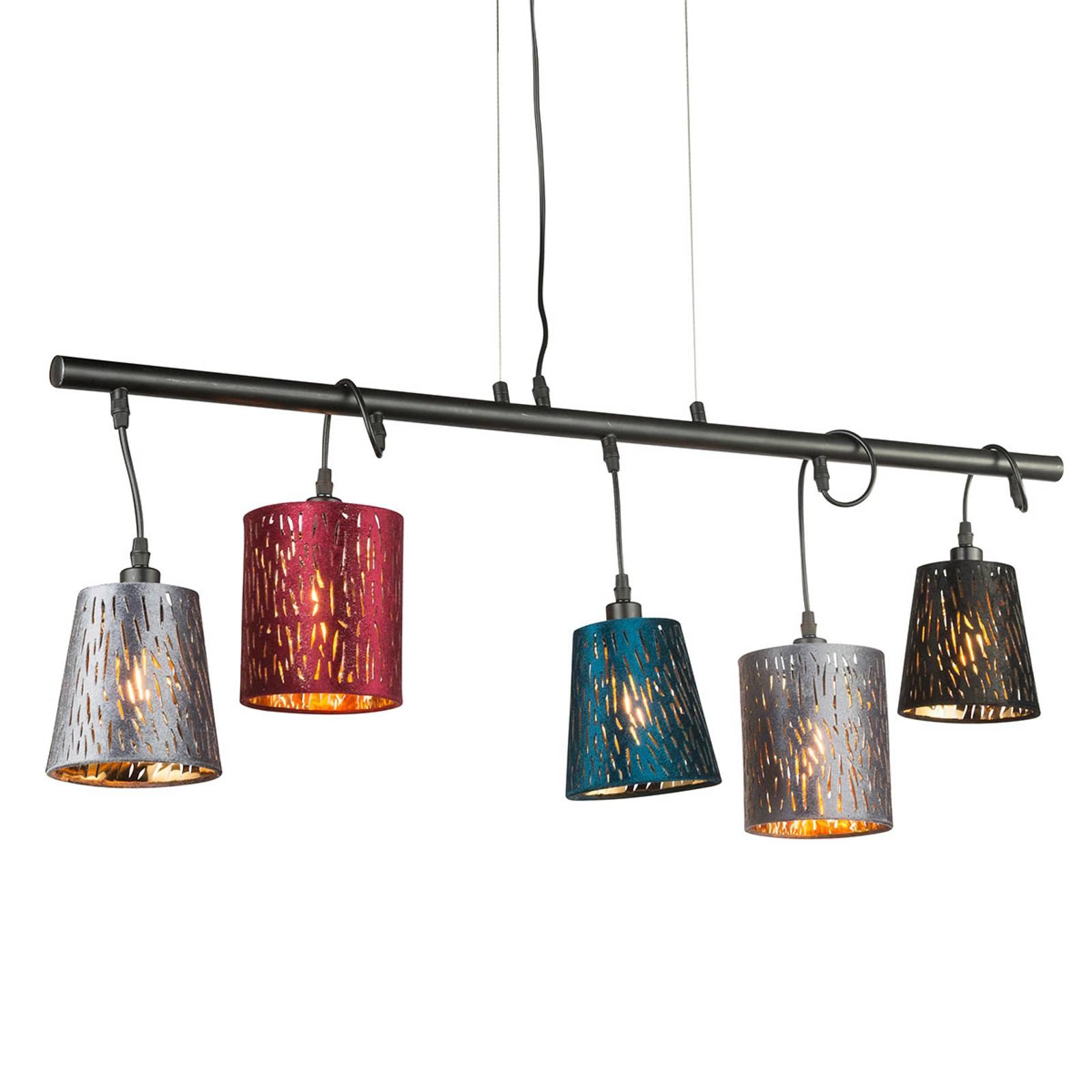 Hanglamp Ticon m 5 lampjes verstelbare lampenkap