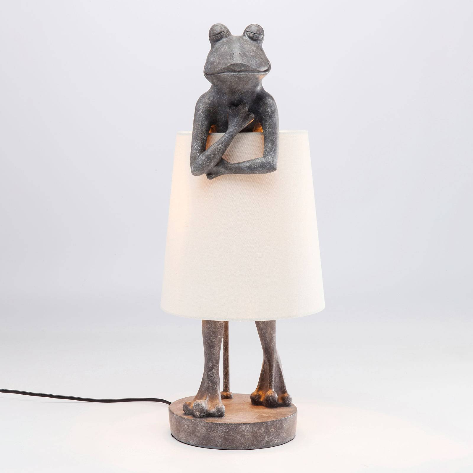 KARE Animal Frog Tischleuchte grau