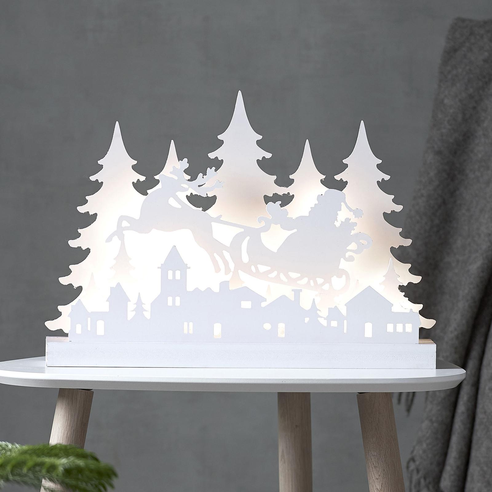 LED-Dekoleuchte Grandy Weihnachtsmann, Länge 42cm