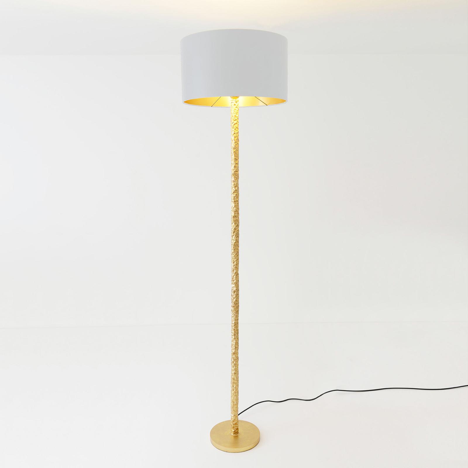 Vloerlamp Cancelliere Rotonda zijde wit/goud