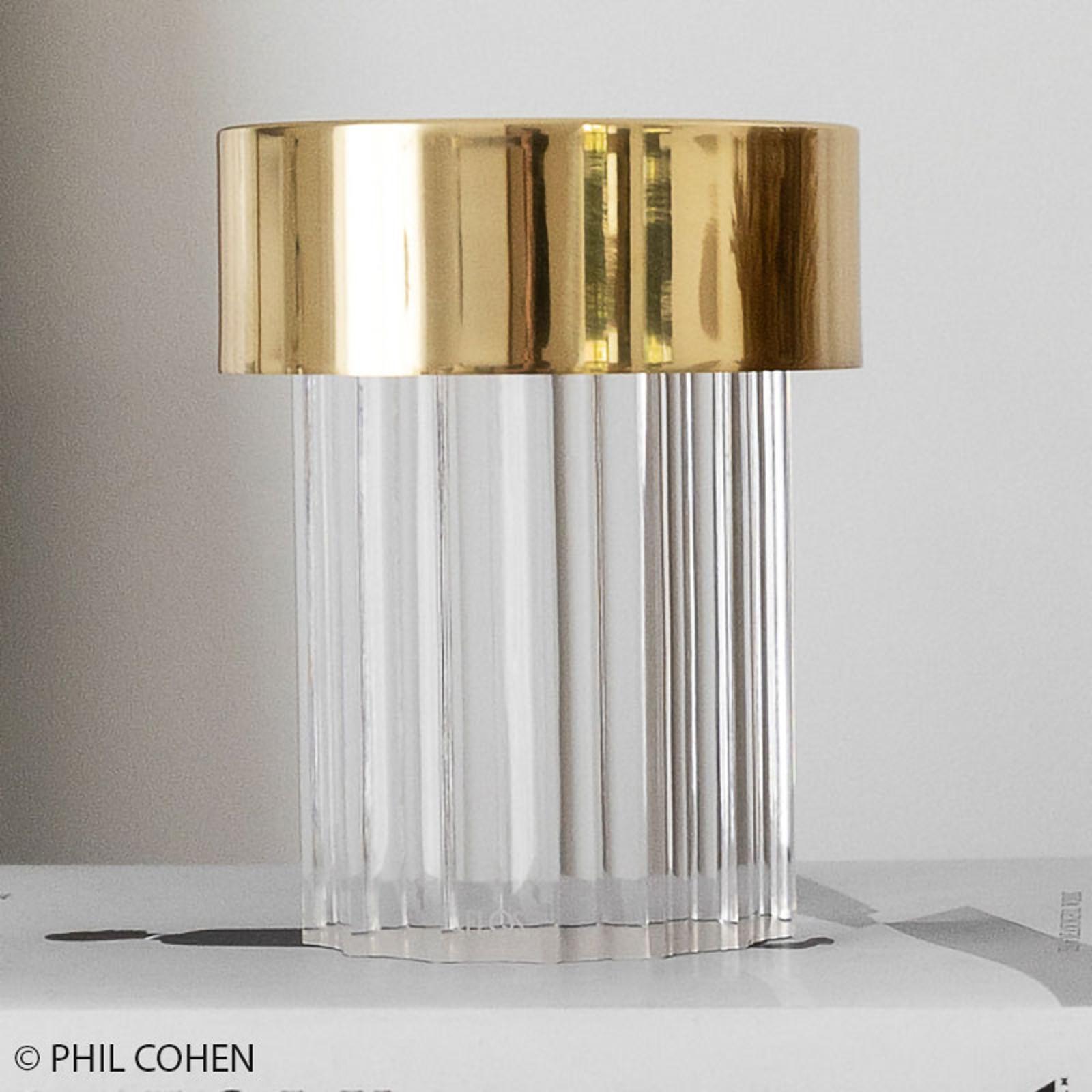 FLOS Last Order LED-bordlampe, bølget, IP20, gull