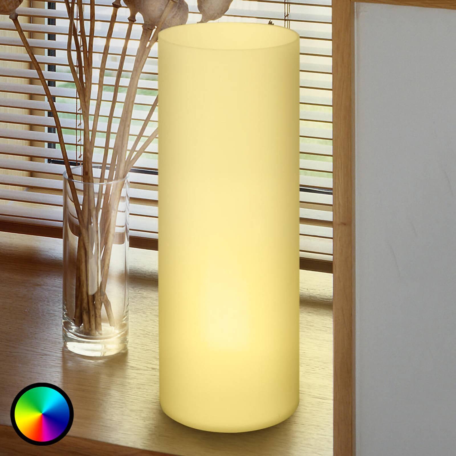 Buisvormige tafellamp Elluno-C LED RGBW