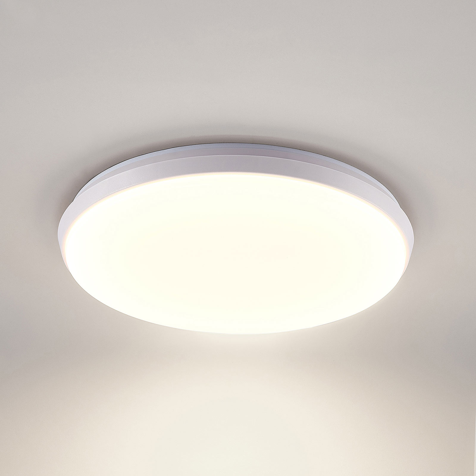 Arcchio Brady LED-loftlampe, hvid, rund, 40 cm