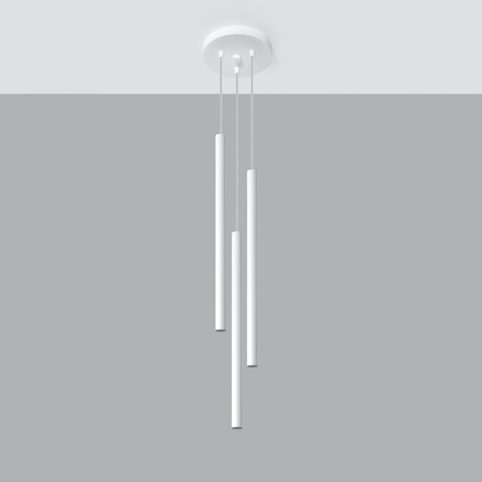 Hanglamp Thin, wit, 3-lamps, Rondell