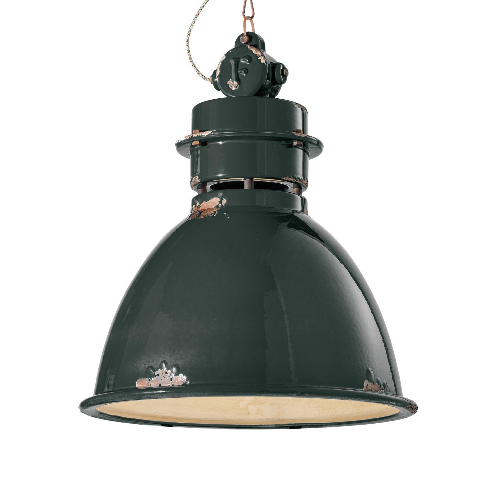 Hanglamp C1750 met keramische kap, zwart