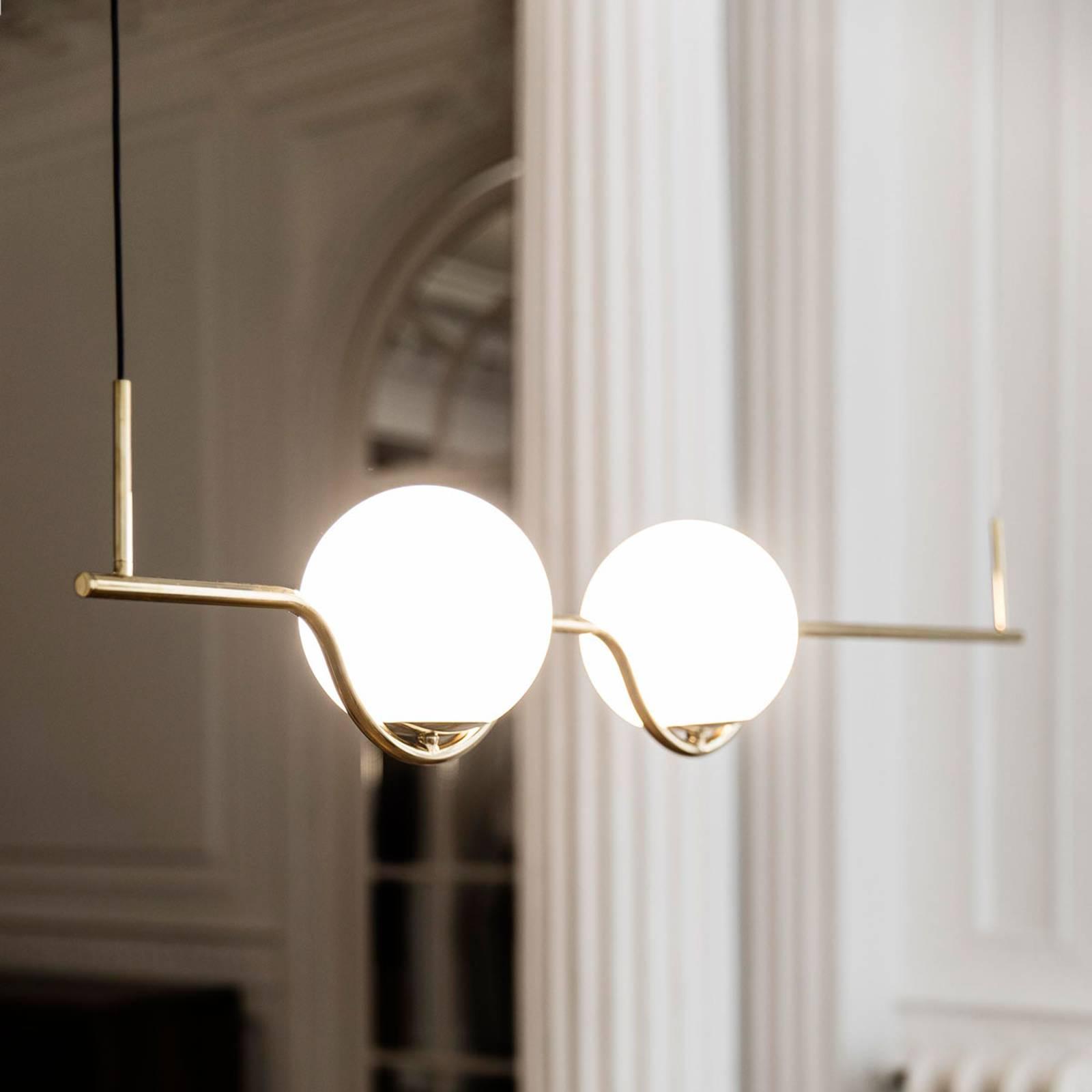 Designerska lampa wisząca Le Vita, LED 2-punktowa