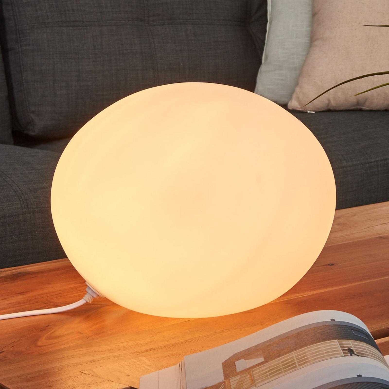 Lampe à poser Verre Ovale Ø 30 cm