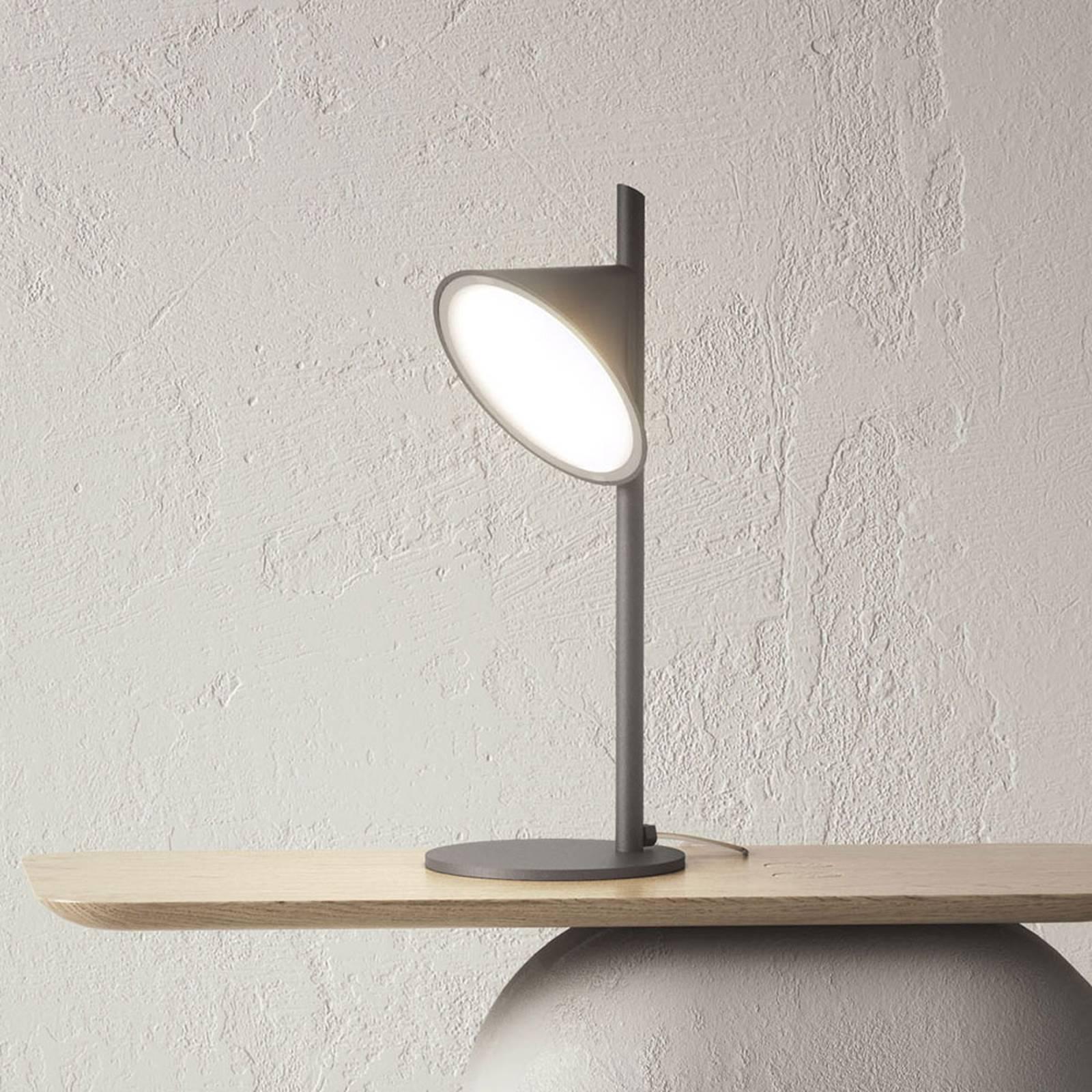 Axolight Orchid lampe à poser LED, gris foncé
