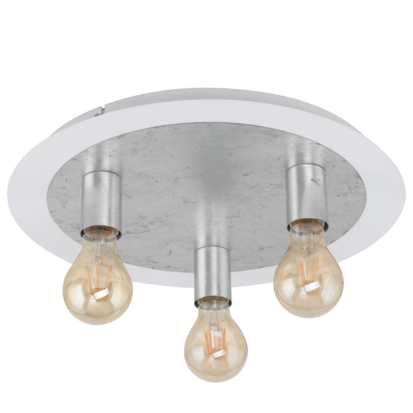 Taklampe Passano tre lyskilder sølv