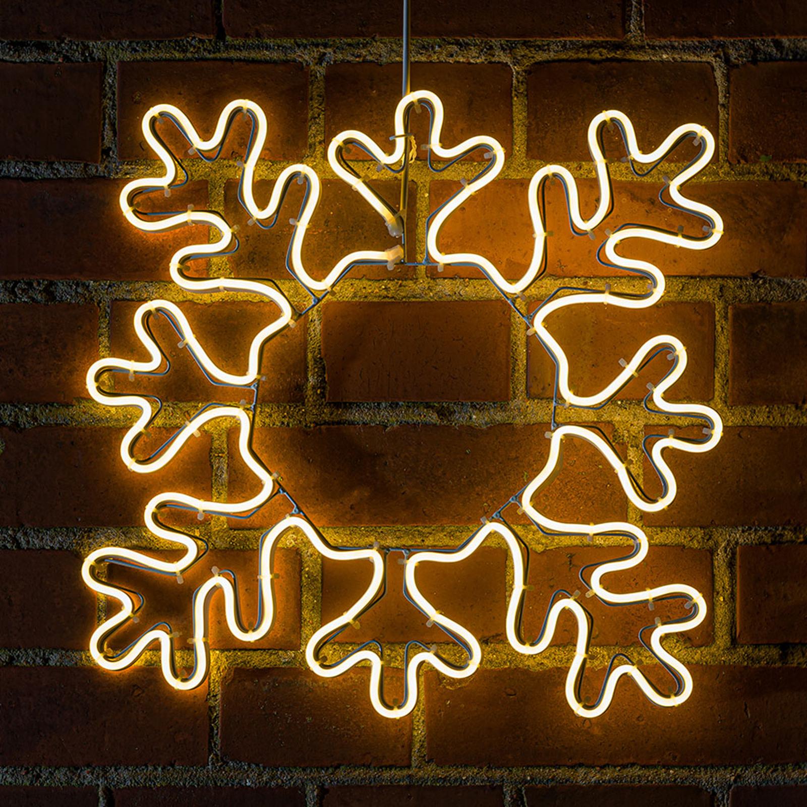 Silhouette déco LED Flocon de neige pour extérieur