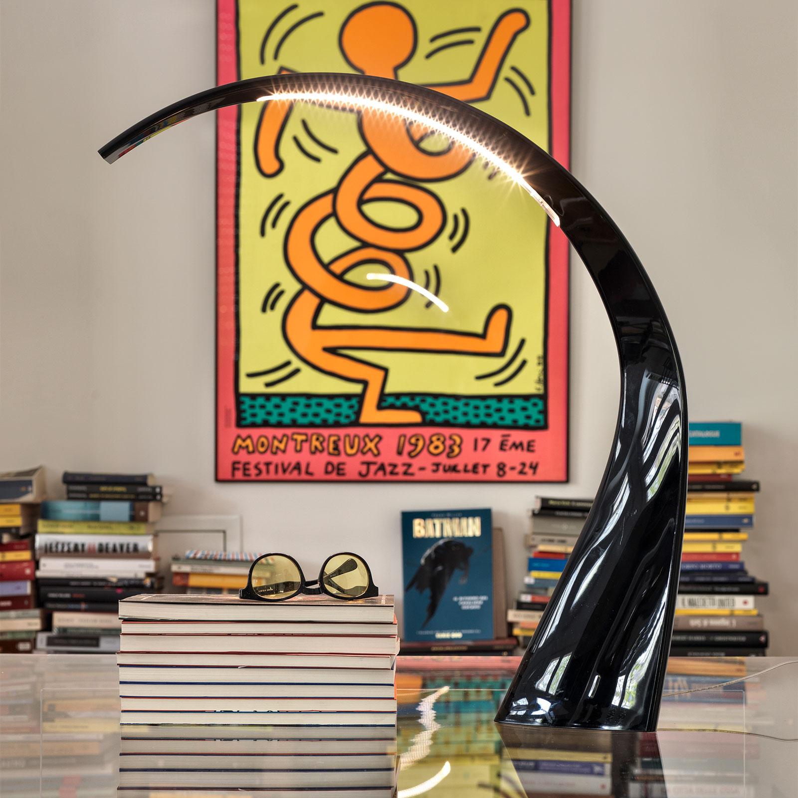 Kartell Taj - LED-Schreibtischleuchte, schwarz