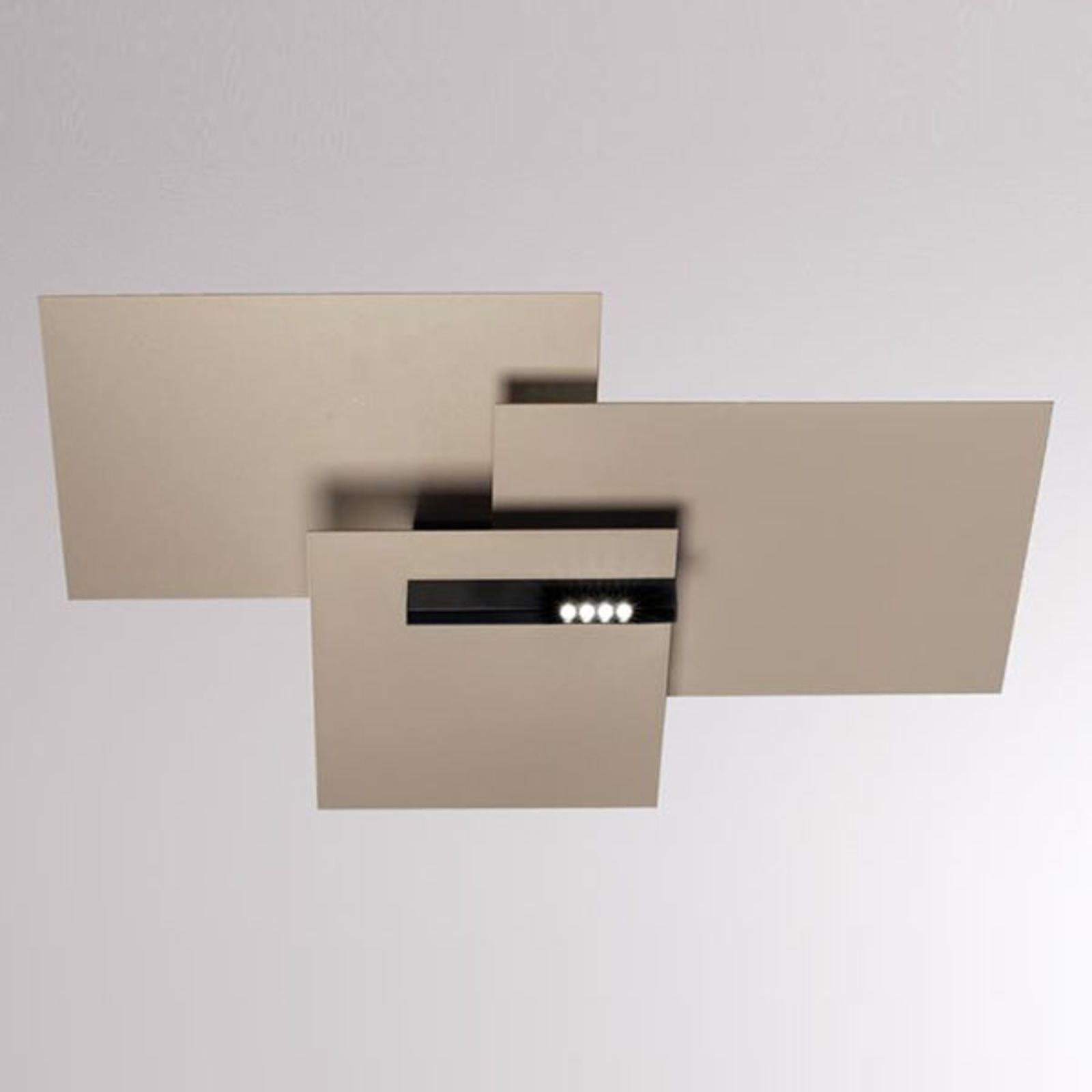 LOUM Lloyd Rectangular LED plafondlamp terra