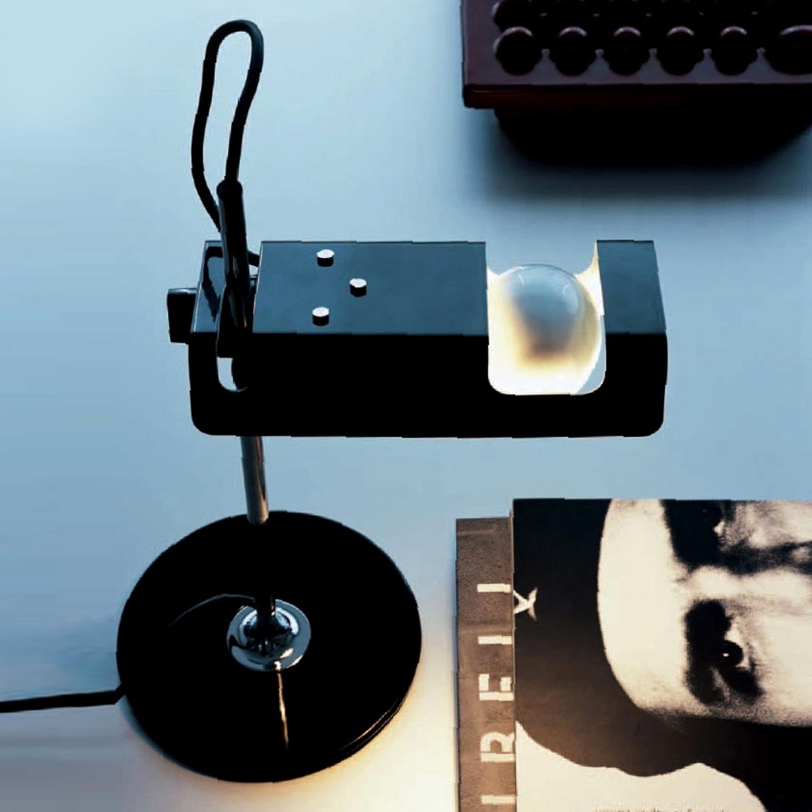 Oluce Spider - horizontale tafellamp, zwart