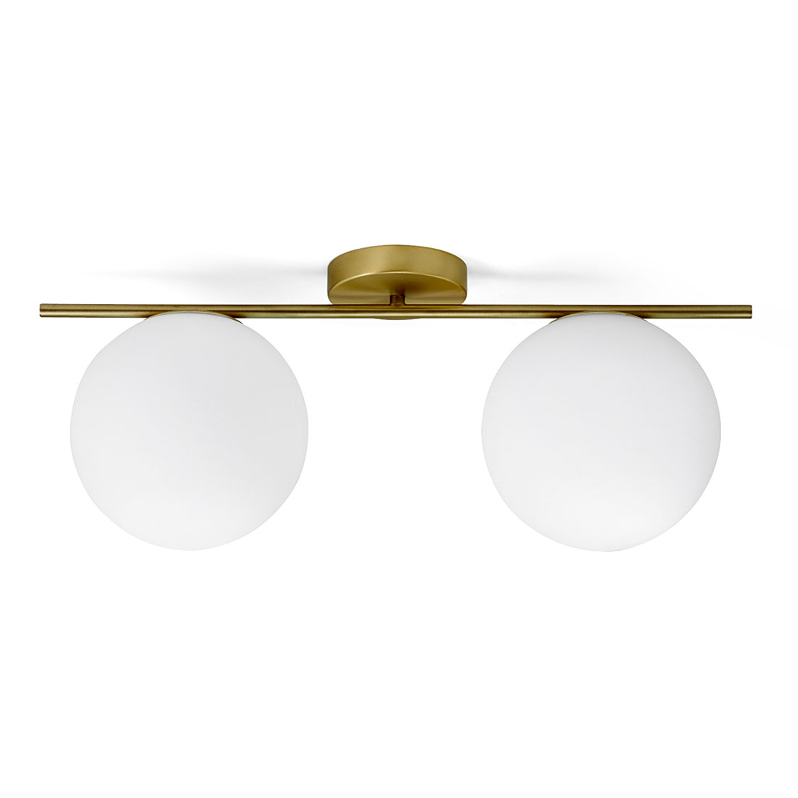 Messing-taklampe Jugen 2 lyskilder horisontal