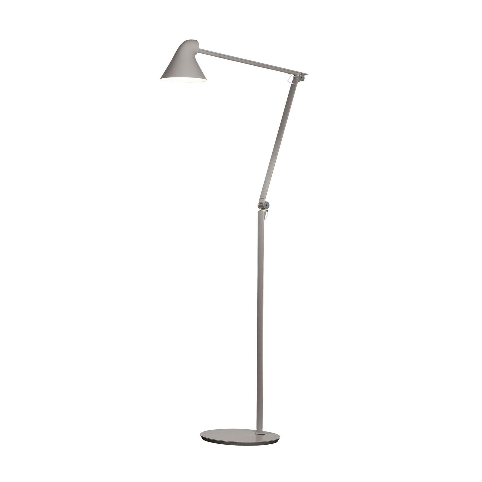 Louis Poulsen NJP LED-gulvlampe 3 000 K lysegrå