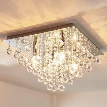 Annica - hoekige plafondlamp met acryl