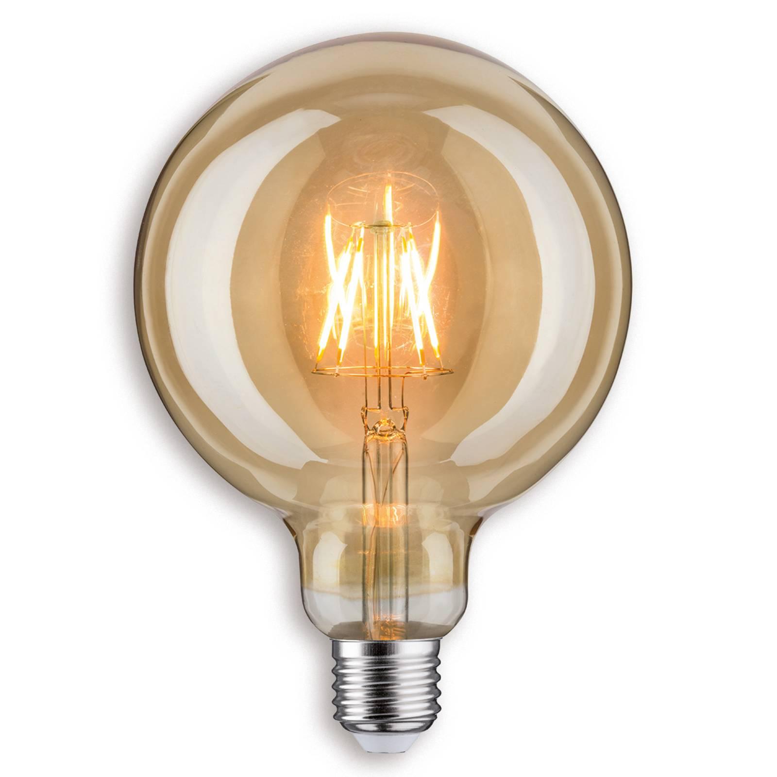 Paulmann LED-Globelampe G125, E27 6,5W 817 in gold