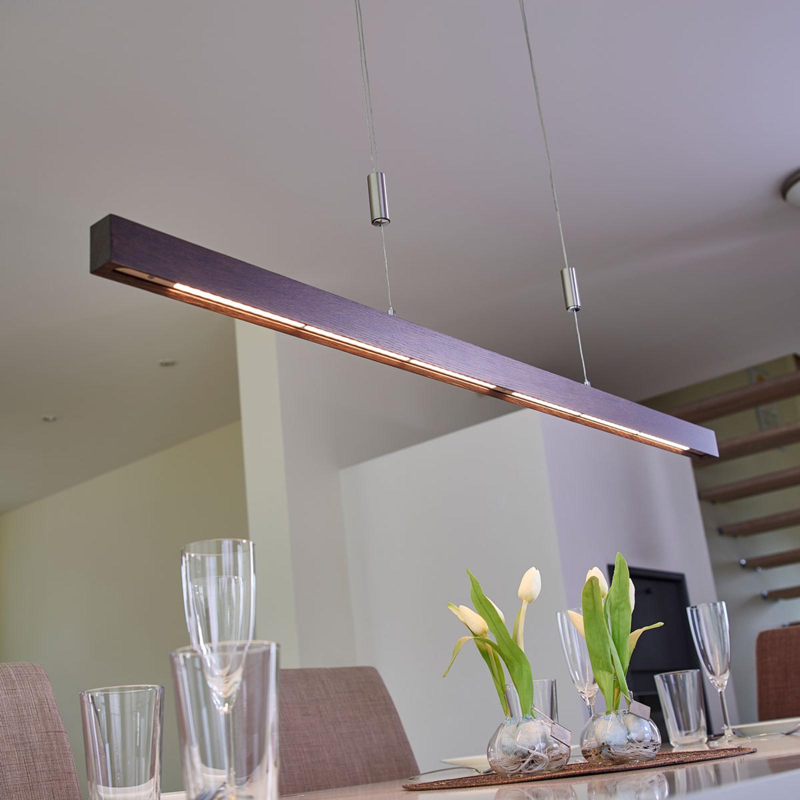 Lampa wisząca LED Nora w formie belki, 118 cm