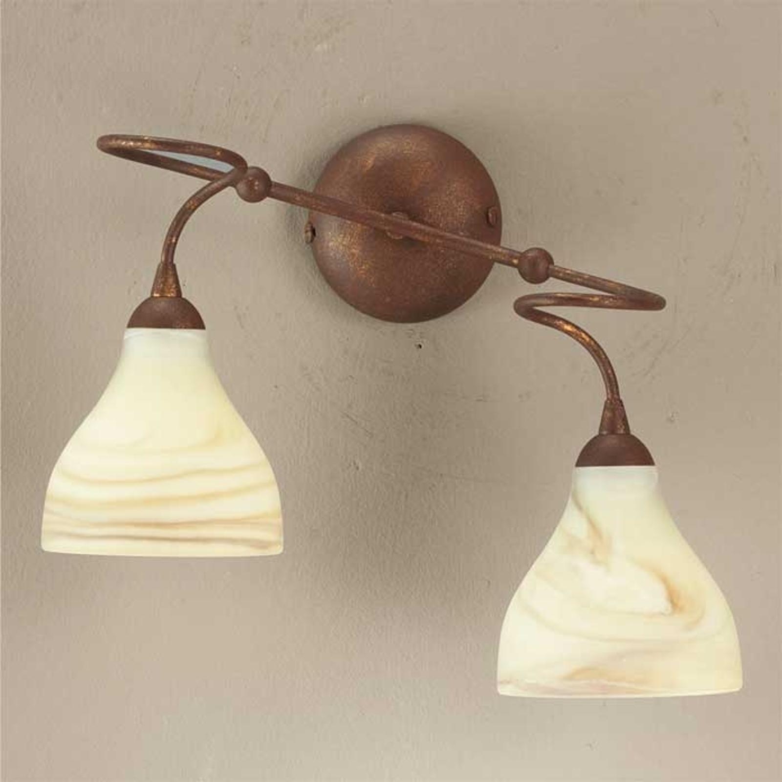 Wandlamp Mattia, 2-lichts