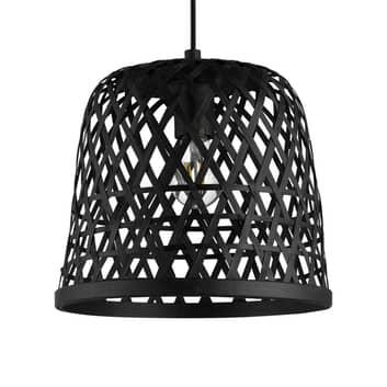Kirkcolm závěsné světlo, stínidlo 30cm dřevo černá