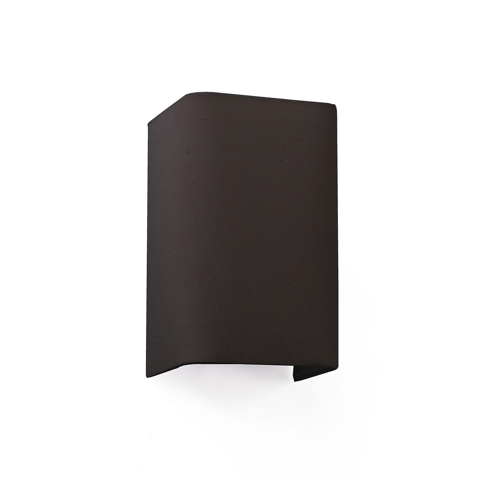 Wandlamp Cotton, hoekig, 20 x 12 cm, zwart