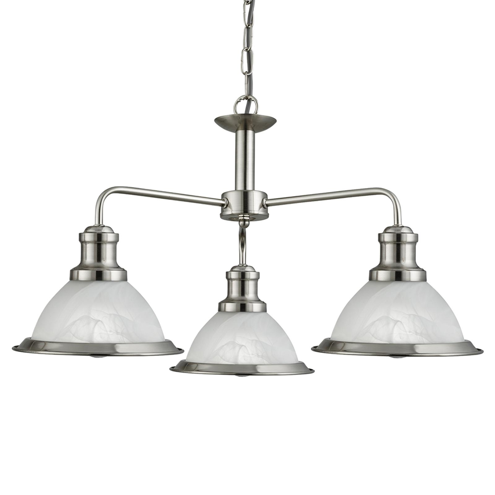 Hanglamp Bistro met 3 lichtbronnen in retro-stijl
