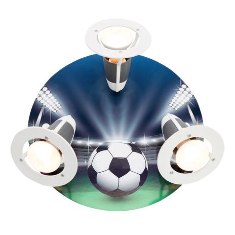 Lampa sufitowa Arena piłkarska, zielono-niebieska