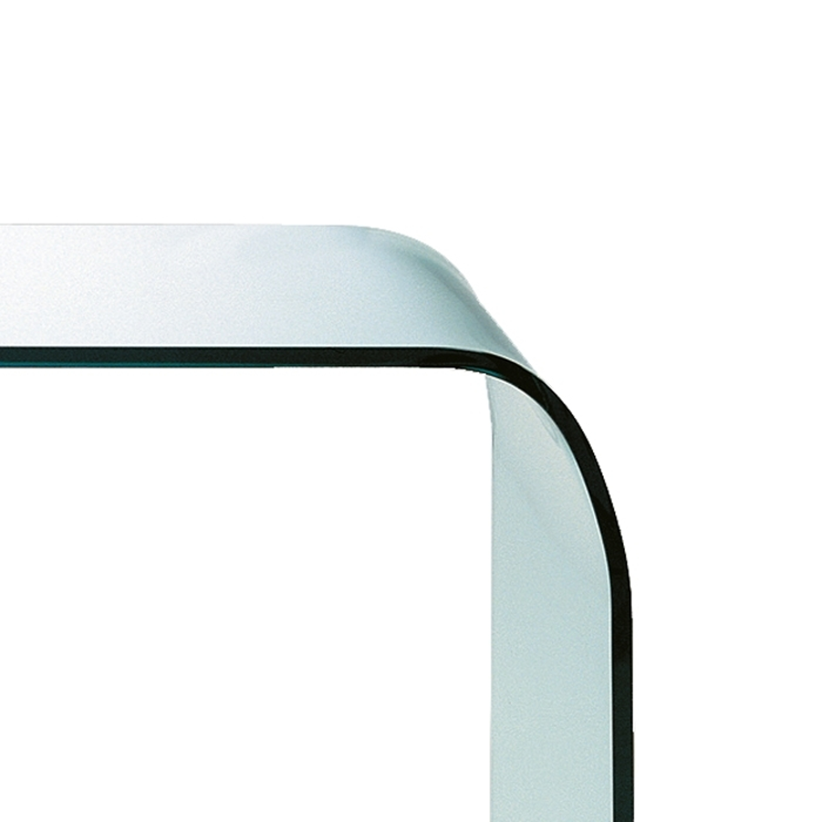 Gebogen glazen tafel FONTANA