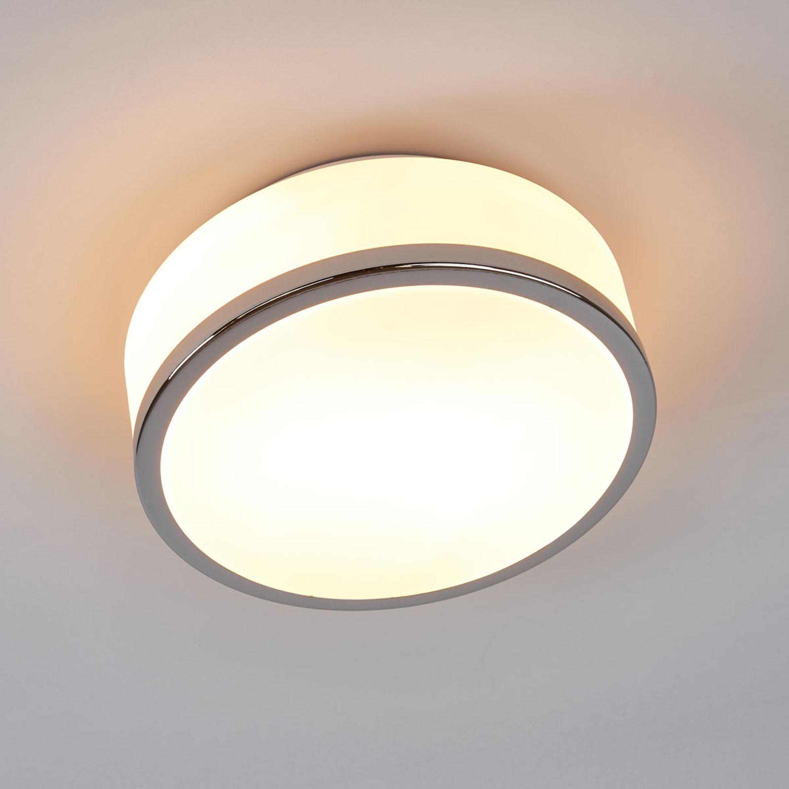Taklampe Flush IP44, Ø 23 cm, krom