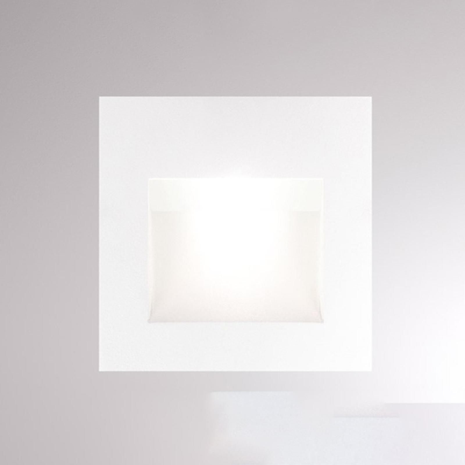 LED-Wandeinbauleuchte Pan, weiß