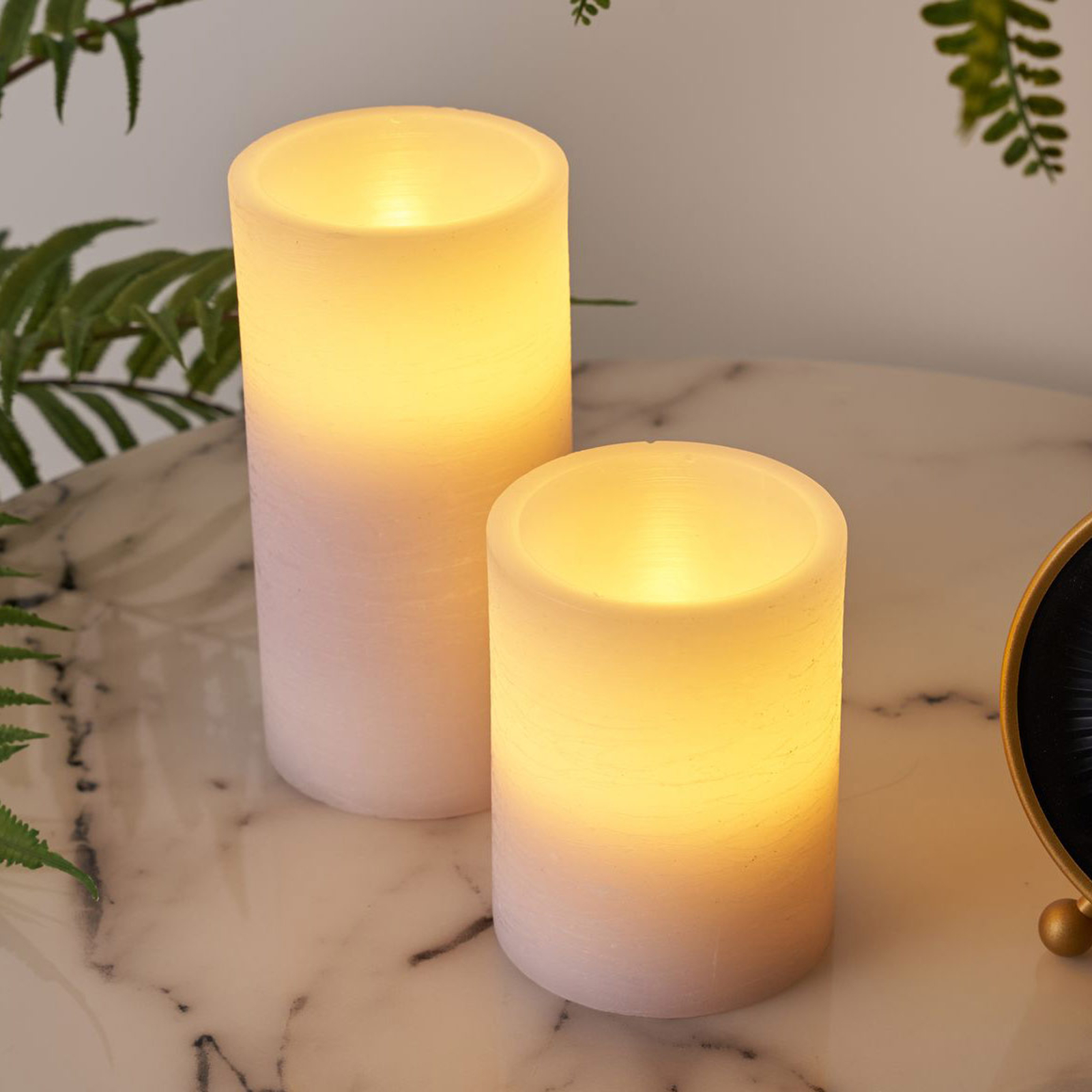 Pauleen Cosy Lilac Candle LED-mignon 2er-sett