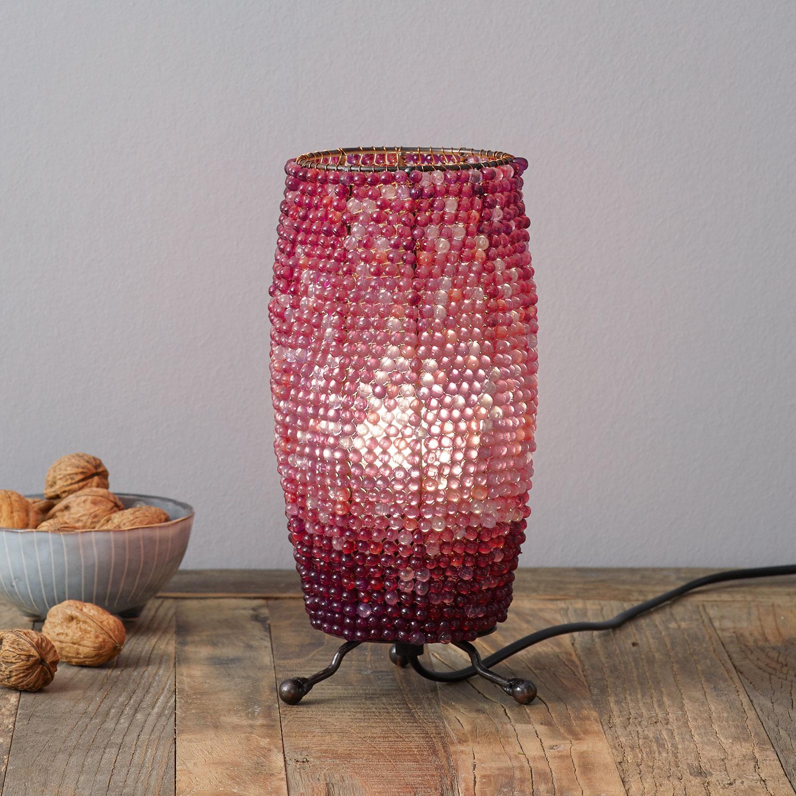 Tafellamp Perla cilindrische vorm hoogte 24 cm