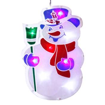 Venstersilhouet Sneeuwman met LED-verlichting