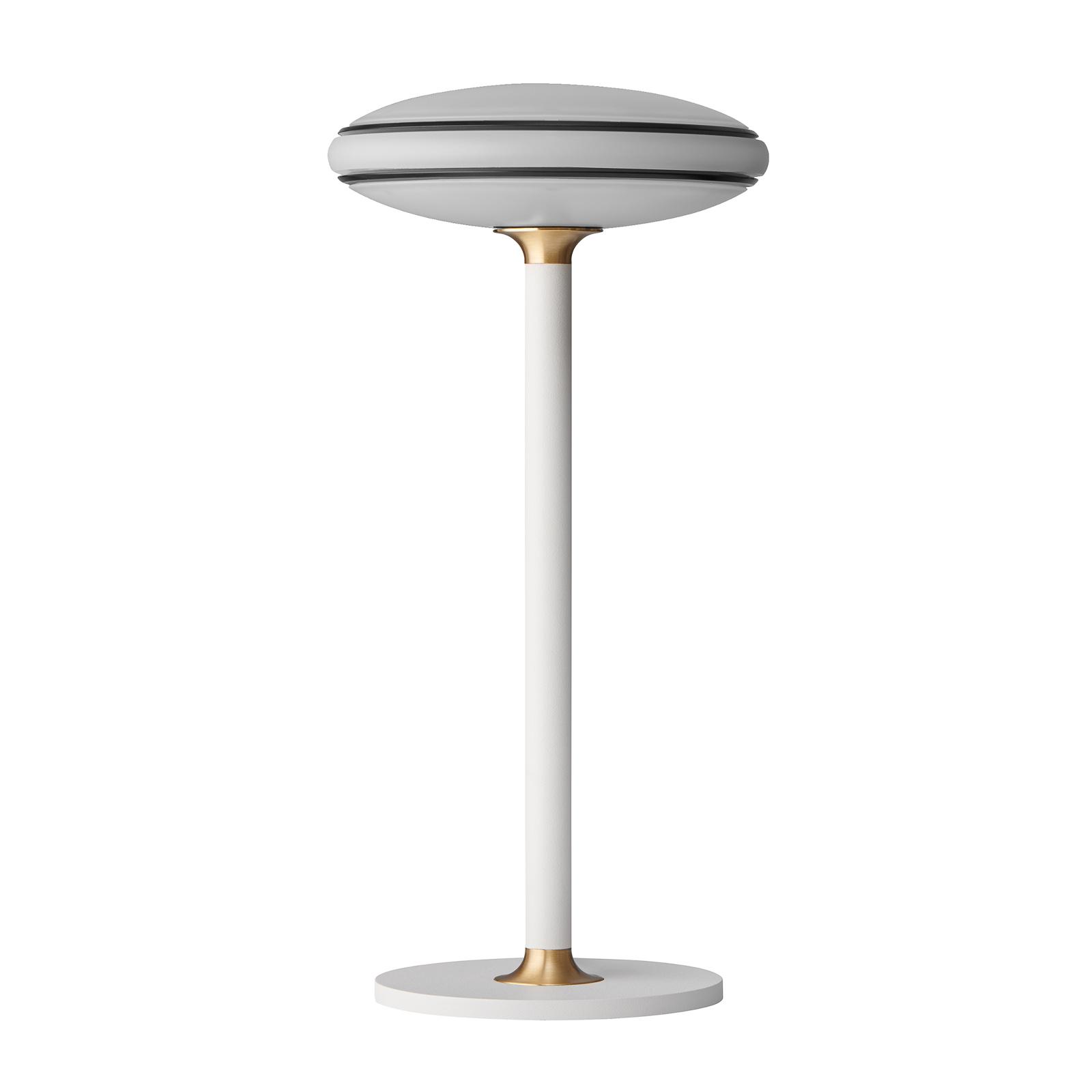 Shade ØS1 Ringe bordlampe, sort, hvid fod, Node